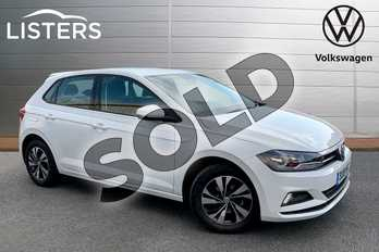Volkswagen Polo 1.0 TSI 95 SE 5dr in Pure White at Listers Volkswagen Stratford-upon-Avon