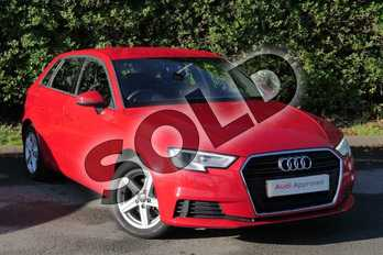 Audi A3 1.4 TFSI SE 5dr S Tronic in Tango Red Metallic at Worcester Audi