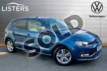Volkswagen Polo 1.2 TSI Match Edition 5dr DSG in Blue Silk at Listers Volkswagen Stratford-upon-Avon