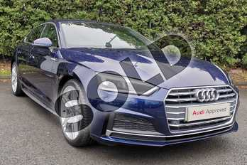 Audi A5 40 TDI S Line 5dr S Tronic in Navarra Blue Metallic at Worcester Audi