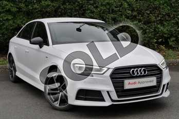 Audi A3 30 TFSI Black Edition 4dr in Ibis White at Worcester Audi