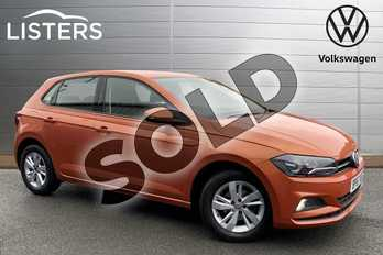 Volkswagen Polo 1.0 TSI 95 SE 5dr in Energetic Orange at Listers Volkswagen Stratford-upon-Avon
