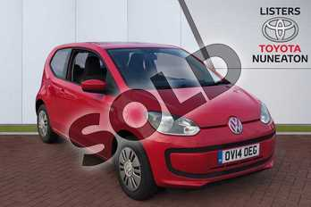 Volkswagen Up 1.0 Move Up 3dr in Red at Listers Toyota Nuneaton