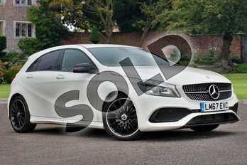 Mercedes-Benz A Class A200 AMG Line 5dr Auto in Cirrus White at Mercedes-Benz of Lincoln