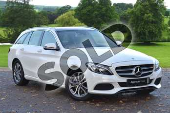 Mercedes-Benz C Class C220d Sport Premium 5dr 9G-Tronic in Polar White at Mercedes-Benz of Grimsby