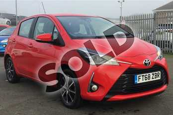 Toyota Yaris 1.5 VVT-i Icon Tech 5dr in Red at Listers Toyota Lincoln