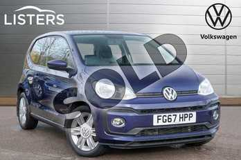 Volkswagen Up 1.0 90PS High Up 3dr in Blueberry at Listers Volkswagen Leamington Spa