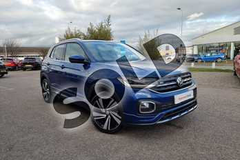 Volkswagen T-Cross 1.0 TSI 115 R Line 5dr DSG in Reef Blue at Listers Volkswagen Nuneaton