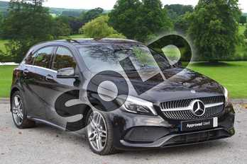 Mercedes-Benz A Class A200d AMG Line Premium Plus 5dr Auto in Cosmos Black at Mercedes-Benz of Grimsby
