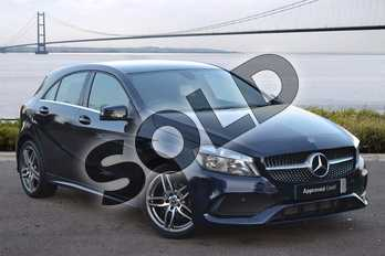 Mercedes-Benz A Class A180d AMG Line 5dr Auto in Cavansite Blue metallic at Mercedes-Benz of Grimsby