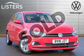 Volkswagen Polo 1.0 TSI 95 SE 5dr in Flash Red at Listers Volkswagen Leamington Spa