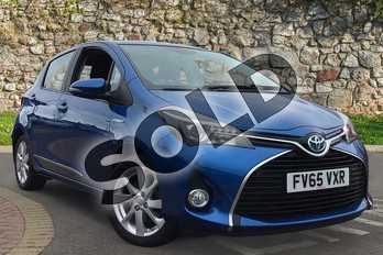 Toyota Yaris 1.5 Hybrid Excel 5dr CVT in Island Blue at Listers Toyota Coventry