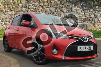 Toyota Yaris 1.33 VVT-i Design 5dr in Chilli Red at Listers Toyota Coventry