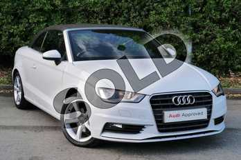 Audi A3 2.0 TDI Sport 2dr in Glacier White, metallic at Worcester Audi