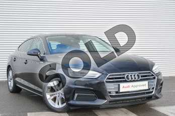 Audi A5 2.0 TDI 150 Sport 5dr S Tronic in Myth Black Metallic at Coventry Audi