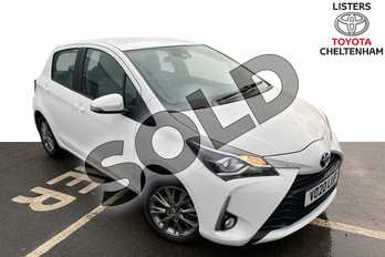 Toyota Yaris 1.5 Vvt-i Icon 5Dr (nav) Hatchback in Pure White at Listers Toyota Cheltenham