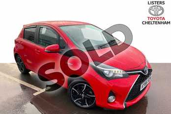 Toyota Yaris 1.5 Hybrid Design 5dr CVT in Chilli Red at Listers Toyota Cheltenham