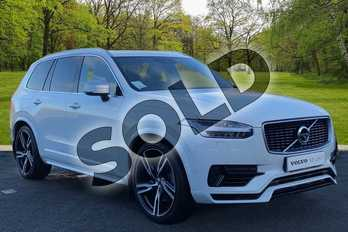Volvo XC90 2.0 T8 Hybrid R DESIGN 5dr Geartronic in Ice White at Listers Volvo Worcester