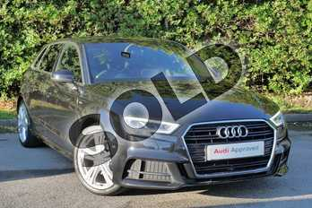 Audi A3 1.5 TFSI S Line 5dr in Myth Black Metallic at Worcester Audi