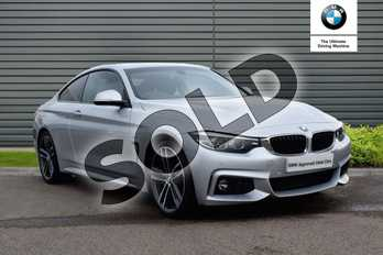 BMW 4 Series 420d (190) M Sport 2dr Auto (Professional Media) in Glacier Silver at Listers Boston (BMW)