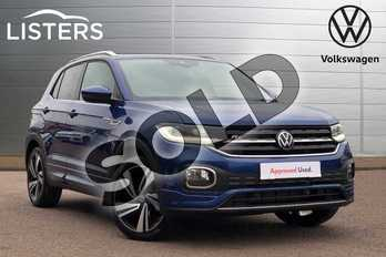 Volkswagen T-Cross 1.5 TSI EVO R Line 5dr DSG in Reef blue at Listers Volkswagen Loughborough
