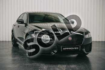 Jaguar XF 2.0d (180) Chequered Flag 4dr Auto in Santorini Black at Listers Jaguar Solihull