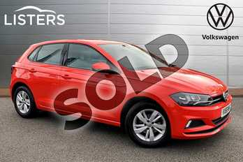 Volkswagen Polo 1.0 TSI 95 SE 5dr DSG in Flash Red at Listers Volkswagen Stratford-upon-Avon