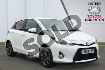 Toyota Yaris 1.5 VVT-i Hybrid Trend 5dr CVT in White at Listers Toyota Nuneaton