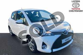 Toyota Yaris 1.5 Hybrid Icon 5dr CVT in Pure White at Listers Toyota Cheltenham