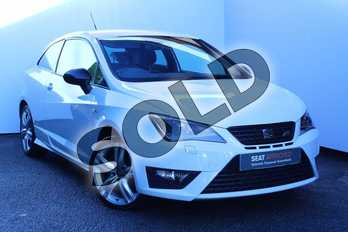 SEAT Ibiza 1.8 TSI Cupra 3dr in White at Listers SEAT Worcester