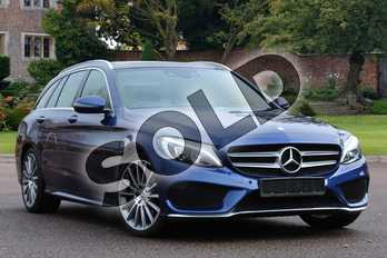 Mercedes-Benz C Class C220d AMG Line Premium 5dr 9G-Tronic in Brilliant Blue Metallic at Mercedes-Benz of Lincoln