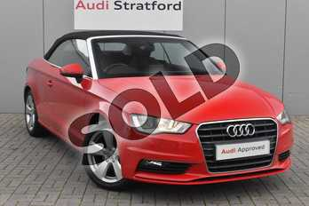 Audi A3 1.4 TFSI 150 Sport 2dr in Brilliant Red at Stratford Audi