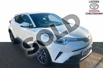 Toyota C-HR 1.8 Hybrid Excel 5dr CVT (Leather) in Pure White at Listers Toyota Cheltenham