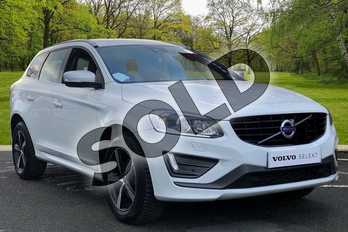 Volvo XC60 D4 (190) R DESIGN Lux Nav 5dr Geartronic in Ice White at Listers Volvo Worcester