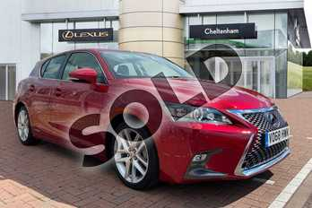 Lexus CT 200h 1.8 Luxury 5dr CVT in Red at Lexus Cheltenham
