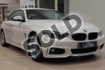 BMW 4 Series 428i M Sport 2dr Auto in Solid - Alpine white at Listers U Northampton