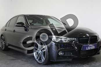 BMW 3 Series 318d M Sport Shadow Edition 4dr Step Auto in Metallic - Black sapphire at Listers U Stratford-upon-Avon