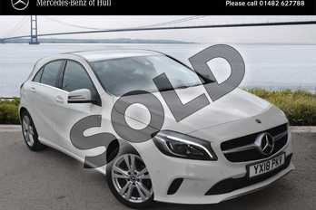 Mercedes-Benz A Class A180d Sport Premium 5dr Auto in Cirrus White at Mercedes-Benz of Hull