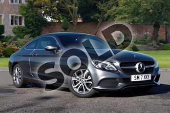 Mercedes-Benz C Class C220d Sport 2dr Auto in Selenite Grey Metallic at Mercedes-Benz of Lincoln