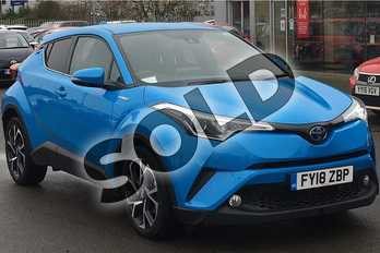 Toyota C-HR 1.8 Hybrid Design 5dr CVT in Cyan Splash at Listers Toyota Lincoln