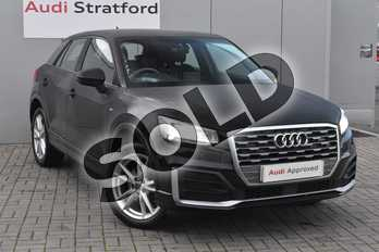 Audi Q2 30 TDI S Line 5dr in Myth Black Metallic at Stratford Audi