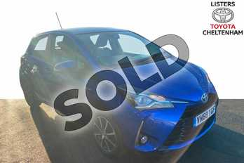 Toyota Yaris 1.5 Hybrid Icon Tech 5dr CVT in Nebula Blue at Listers Toyota Cheltenham