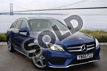 Mercedes-Benz C Class C200d AMG Line 5dr Auto in Brilliant Blue Metallic at Mercedes-Benz of Hull