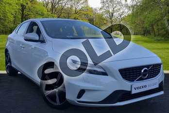 Volvo V40 D2 (120) R DESIGN 5dr in Ice White at Listers Volvo Worcester