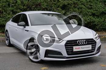 Audi A5 40 TDI Black Edition 5dr S Tronic in Glacier White Metallic at Worcester Audi