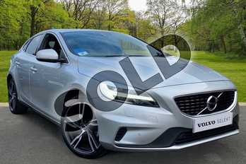 Volvo V40 T2 (122) R DESIGN Edition 5dr in Bright Silver at Listers Volvo Worcester
