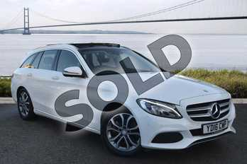 Mercedes-Benz C Class C220d Sport Premium 5dr Auto in Polar White at Mercedes-Benz of Hull