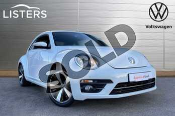 Volkswagen Beetle 1.4 TSI 150 Design 3dr in Pure white at Listers Volkswagen Loughborough