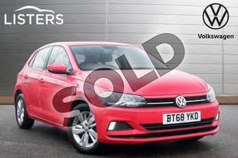 Volkswagen Polo 1.0 EVO SE 5dr in Flash Red at Listers Volkswagen Leamington Spa