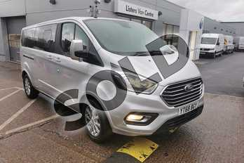 Ford Tourneo Custom 2.0 TDCi EcoBlue 170ps L/R 9 Seater Titanium Auto in Silver at Listers Volkswagen Van Centre Worcestershire